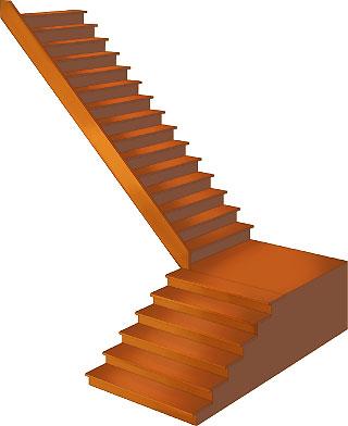 これもIllustratorで。ブレンド機能を使うと階段はかなり簡単にかけます。